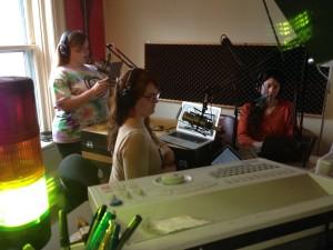 The crew at Eco-Defense Radio live at WRFI.