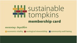 Sustainable Tompkins Membership card