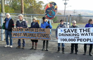 Protest at Crestwood site 10/24/14